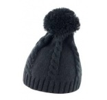 R149X03 - Result•CABLE KNIT POM POM BEANIE